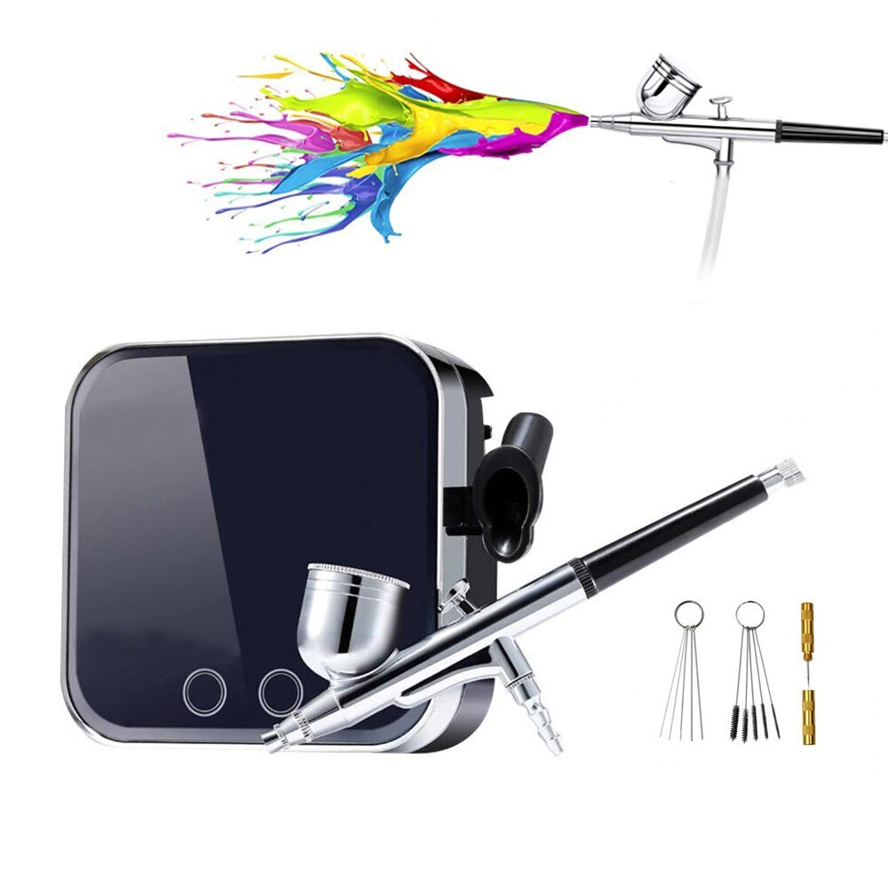 UPTHRUSH™ Airbrush Makeup Kit With Compressor Professional Face Skin Replenishment Tool Single-Action Spray Gun
